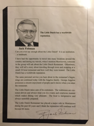 Letter from Jack Fishman